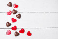 Chocolate Candies And Red Lollipops Stock Images - 84895234