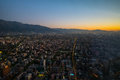 Santiago Aerial View From The Costanera Center At Sunset, Santia Royalty Free Stock Photos - 84898118