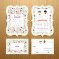 Rustic Blossom Flowers Wedding Invitation Card And RSVP Set Royalty Free Stock Images - 84930449