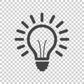 Light Bulb Line Icon Vector, Isolated On Isolated Background. Stock Images - 84937014