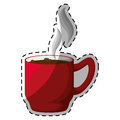 Red Coffee Cuppa With Steam Design Royalty Free Stock Images - 84946639