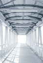 Light From The Way Out Of Modern Metal Structure Bridge Stock Photography - 84972452