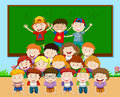 Children Playing Pyramid In Classroom Stock Photo - 84976390
