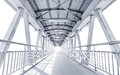 Light From The Way Out Of Modern Metal Structure Bridge Royalty Free Stock Image - 84978166
