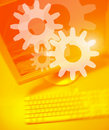 Gear Team Works Stock Photography - 851372
