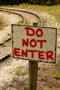 Do NOT ENTER Sign Royalty Free Stock Photo - 858695