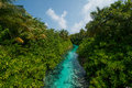 Tropical River View From The Bridge At Maldives Stock Images - 85002924