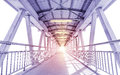 Light From The Way Out Of Modern Metal Structure Bridge Stock Photos - 85004673
