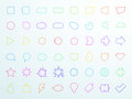 Big Colourful Generic Outline Icon Shapes Set Vector Stock Image - 85020951