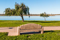 Bench And Trees At Mission Bay Park Royalty Free Stock Photography - 85023837