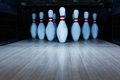 Ten Pin Bowling Alley Background Stock Image - 85051621