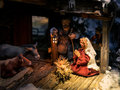 Wooden Christmas Cribs Detail. Royalty Free Stock Images - 85063199