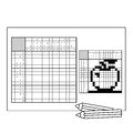 Apple. Black And White Japanese Crossword With Answer. Nonogram Royalty Free Stock Images - 85067209