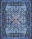 Persian Carpet Texture, Abstract Ornament. Round Mandala Pattern, Middle Eastern Traditional Carpet Fabric Texture. Turquoise Milk Stock Photos - 85072633