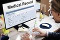 Medical Record Report Healthcare Document Concept Royalty Free Stock Photo - 85093595