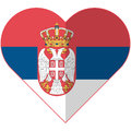 Serbia Heart Flag Stock Photos - 85102143