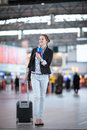 Pretty Young Female Passenger At The Airport Stock Photography - 85107742