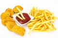 Fast Food Assortment On White Stock Image - 85126271