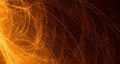 Abstract Orange, Yellow, Gold Light Glows, Beams, Shapes On Dark Background Stock Images - 85129704