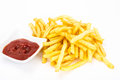 Fast Food Assortment On White Stock Image - 85131391