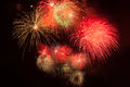 Red Fireworks Stock Photo - 85144980