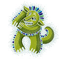 Character Monster Vector Flat Illustration, Cute Green Mutant. D Stock Photography - 85152392