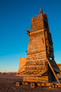 Wooden Belfry Or Siege Tower Was Used To Attack The Castle Walls Stock Images - 85182104