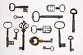 A Collection Of 13 Interesting  Antique Keys Stock Photos - 85183003