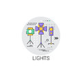 Lights Film Production Industry Icon Stock Photo - 85184850