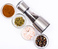 Mortar With Pestle And Mill For Spices Royalty Free Stock Photo - 85191415