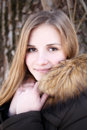 Portrait Of Young Smiling Girl In Winter Park Stock Photo - 85191530