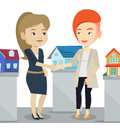 Agreement Between Real Estate Agent And Buyer. Royalty Free Stock Photos - 85192668