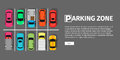 Parking Zone Top View Royalty Free Stock Photos - 85198338