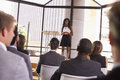 Young Black Businesswoman Presenting Seminar To An Audience Royalty Free Stock Photo - 85209095