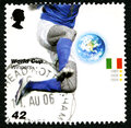 Italy World Cup Winners UK Postage Stamp Stock Photography - 85210392