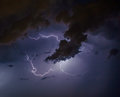 Cloudscape With Thunder Bolt Stock Image - 85220661