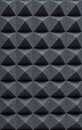 Acoustic Absorbing Foam For Studio Recording. Pyramid Shape. Royalty Free Stock Photos - 85225898