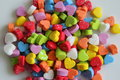 A Lot Of The Little Colorful Hearts For Valentine`s Day. Stock Photos - 85241023