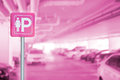 Lady Parking Sign With Car Park In Office Building. Stock Photo - 85248100