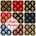 Royal Flower Patterns Set, Vector Floral Ornament Stock Image - 85262121