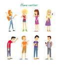 Set Of Emotions. Quarrel Indifference Love Parting Royalty Free Stock Photography - 85263337