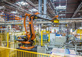 Industrial Robot Packer In The Workshop Production Stock Photos - 85265193