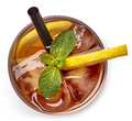 Glass Of Ice Tea Royalty Free Stock Image - 85289266