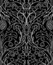 Floral  Black And White Pattern. Stock Image - 85299801