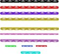 Multi Colored Bar Lines In 3d Royalty Free Stock Photography - 8536487