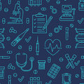 Seamless Pattern Medical Icons, Clinic Vector Illustration. Hosp Stock Image - 85328351