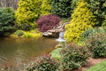 Small Waterfall In Japanese Garden Royalty Free Stock Photography - 85334097