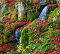 A Small Waterfall In Autumn Season, Kyoto, Japan Stock Image - 85344731