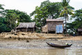 House Of Fisherman On A Riverbank In Myanmar 1 Stock Photo - 85346410