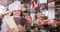 Woman Selling Chocolates And Confectionery Stock Photography - 85363902